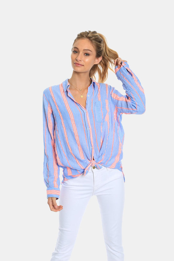Chambray Bright Stripe Blouse