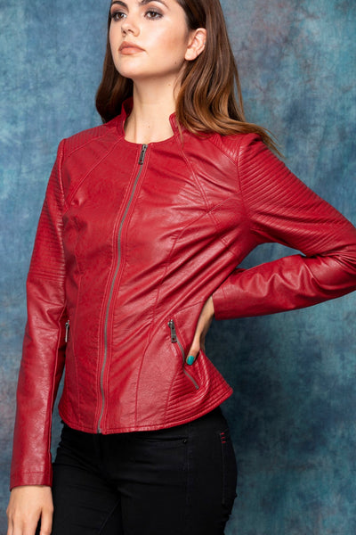 Red Vegan Jacket DPJ086B by Coalition LA
