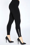 Black Diva Legging with Metal Buttons by Sympli