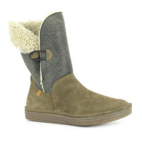 Rice Field 5055 Roll Button Mid Bootie by El Naturalista