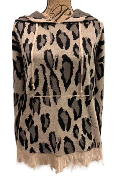 Leopard Hooded Sweater FC-132 by Fate