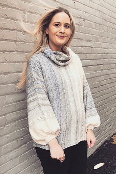 Oversized Pullover Sweater with Cowl Neck by Fate