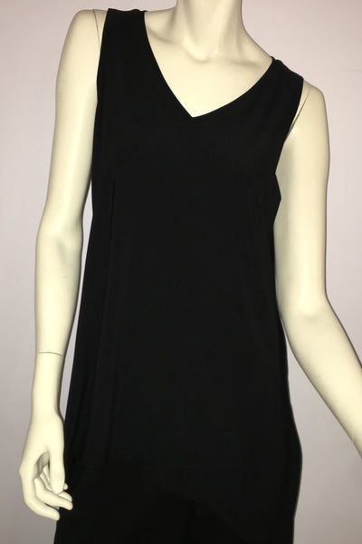 Sleeveless Go To Wide V-Neck Tank Relax