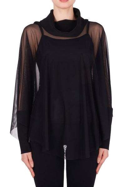 Sheer Top with Underpinning 191308 by Joseph Ribkoff