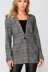 Houndstooth Plaid Blazer 193819 by Joseph Ribkoff