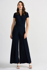 Short Sleeve Waist Wrap Jumpsuit 201146 by Joseph Ribkoff