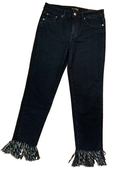 Frayed Ankle Denim Pants 193986 by Joseph Ribkoff