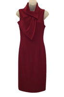 Sleeveless Drape Tie Neck Dress