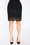 Black Lace Reversible Mini Skirt by Sympli