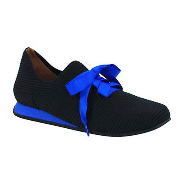 Taimah Black / Blue Lace-Up Sneaker by L'Amours des Pieds