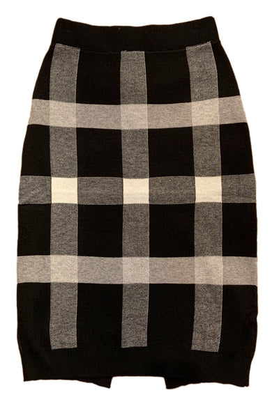 Plaid Sweater Skirt LS9019 by Patrizia Luca