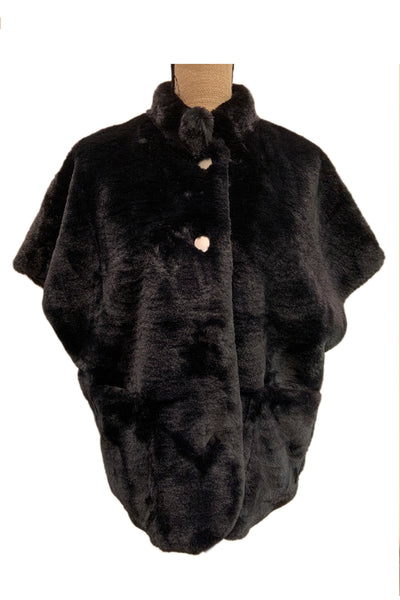 Faux Fur Cape Vest NF907 by Patrizia Luca