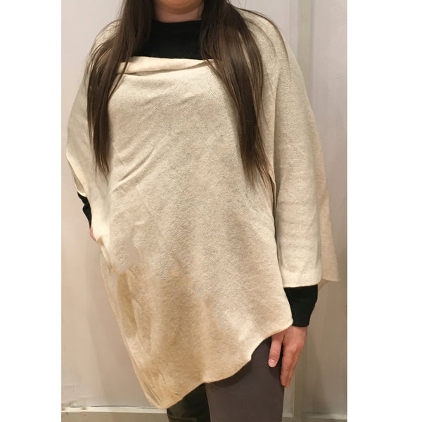 Sand Cashmere Button Wrap by Pure Amici