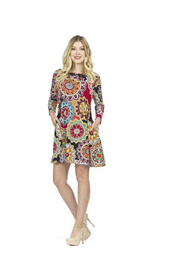 Mandala Print Aline Dress