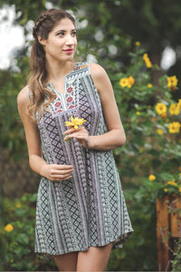 Geo Stripe Dress