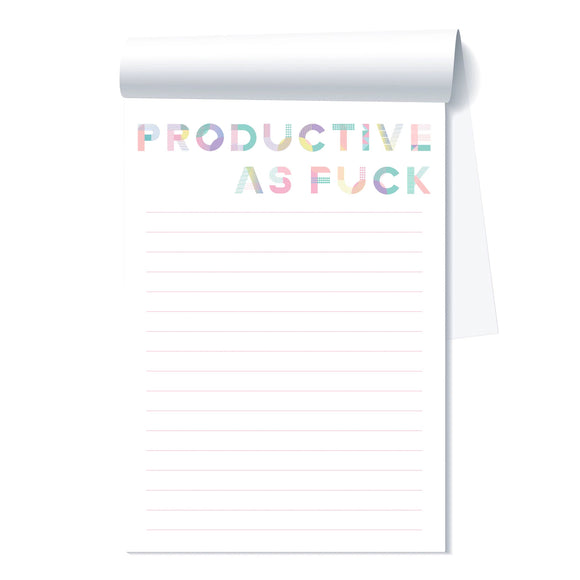 Productive As Fuck Notepad by Fun Club