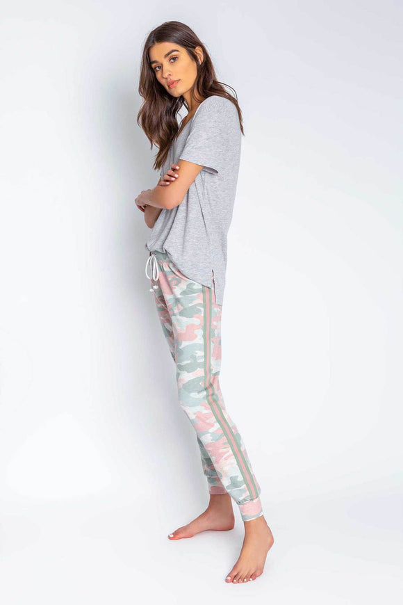 Camo in Color Banded Pant