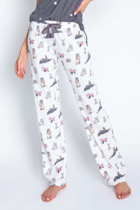 Dogs Playful Print Pant