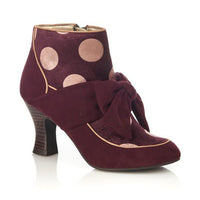 Seren Booties in Burgundy by Ruby Shoo