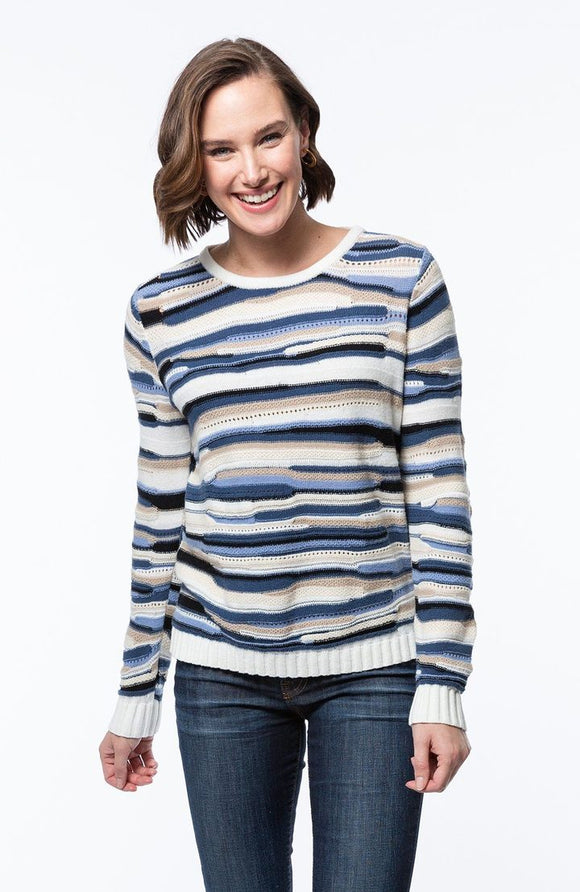 Striped Scoopneck Sweater