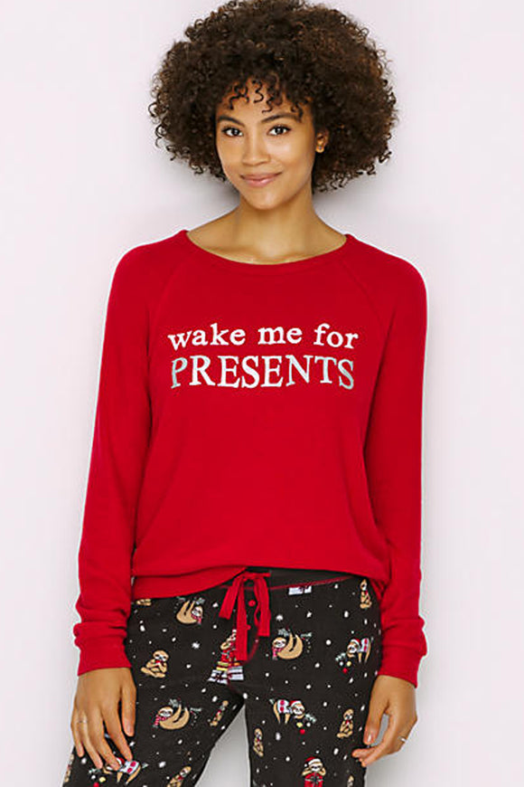Wake Me For Presents Long Sleeve Top