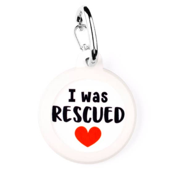 I Was Rescued Dog Tag