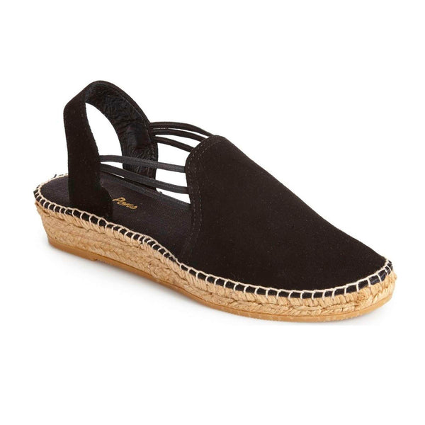Black suede Nuria espadrille by Toni Pons