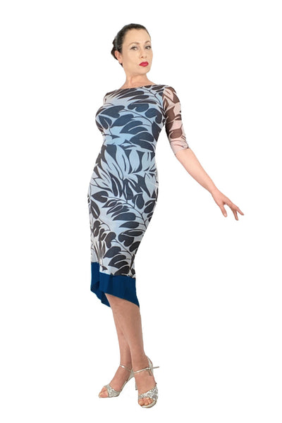 leaves NINA argentine tango dress with sleeves