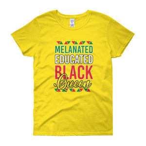 Melanated Educated Women's t-shirt
