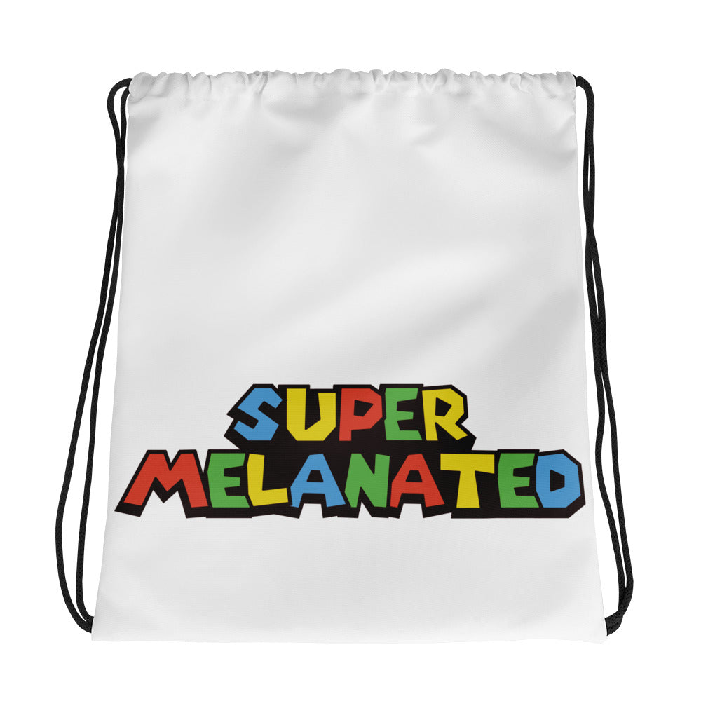 Super Melanated Drawstring bag