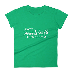 Know Your Worth Women's short sleeve t-shirt