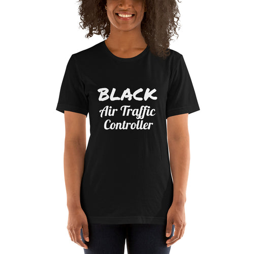 Black Air Traffic Controller Short-Sleeve Unisex T-Shirt