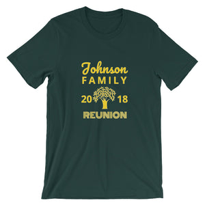 Family Reunion Color T-Shirts  - Email/Contact Us for Customizations