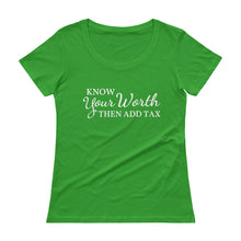 Know Your Worth II Ladies' Scoopneck T-Shirt