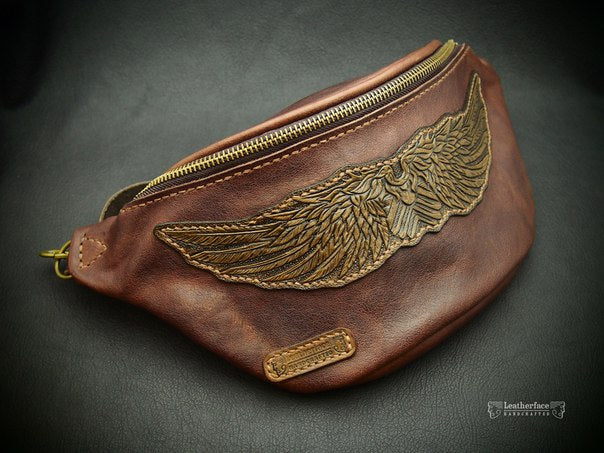 Waist bag with embossing