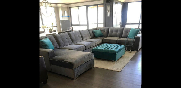 Furniture Warehouse Brampton - Grey Fabric Sectional