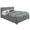 Emily Platform Bed W/Drawers in Light Grey - sydneysfurniture