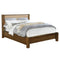 Dominic Upholstered Platform Bed in Walnut - sydneysfurniture