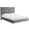 Dior Platform Bed in Grey - sydneysfurniture