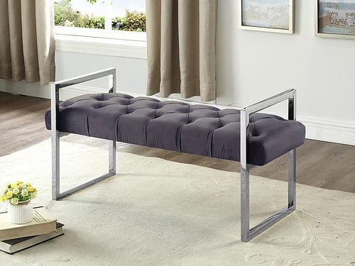 Cindy Tufted Velvet Bench 6 Colours Available - Furniture Warehouse Brampton