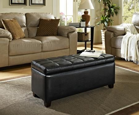 Emma Chocolate Storage Ottoman - Furniture Warehouse Brampton