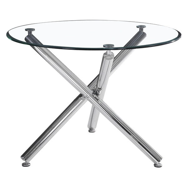 Solar II Round Dining Table in Chrome - sydneysfurniture