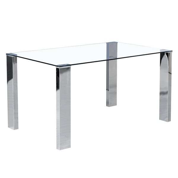 Francis Rectangular Dining Table in Stainless Steel - sydneysfurniture