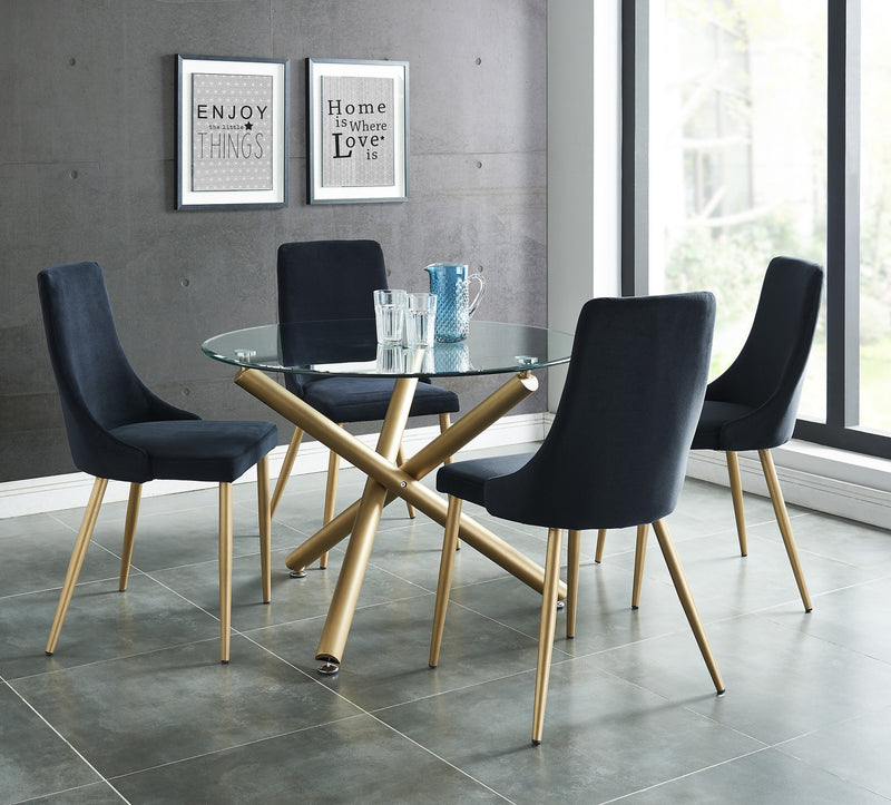 Carmen Round Dining Table in Gold - sydneysfurniture