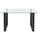 Fran Rectangular Dining Table in Black - sydneysfurniture