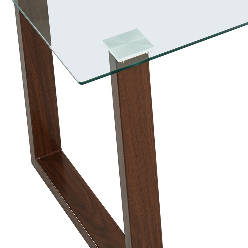 Fran Rectangular Dining Table in Walnut - sydneysfurniture