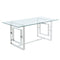 Rose Dining Table in Silver - sydneysfurniture