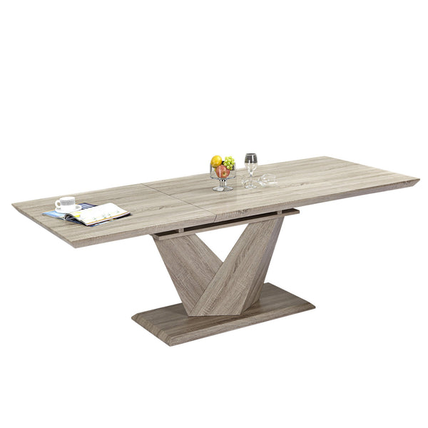 Ecco Rectangular Dining Table in Washed Oak - sydneysfurniture