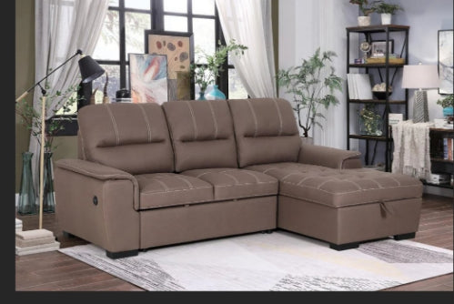 Sofa bed sleeper  with Chaise Storage - Furniture Warehouse Brampton