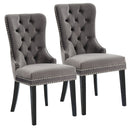 Roxy Side Chair, set of 2, in Grey - sydneysfurniture
